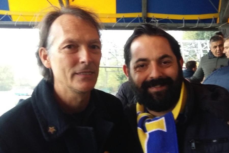 Muggiò, il nuovo mister Fabio Pizzi con il Presidente Luciano Pace